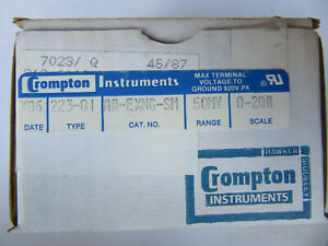 Crompton 233 01 Panel Meter 2 3 4 0 20 Ac Amperes Aa exng sm New In Box