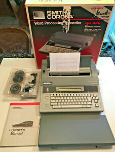 Smith Corona Word Processing Typewriter sd850 W manual Ribbons Printwheels Box