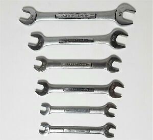 Craftsman Double Open End Wrench Vv Series Lot Of 6