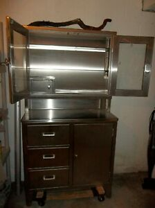 Blickman Stainless Steel Medical Cabinet Two Available Great Condition