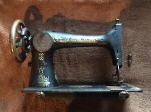 Vtg Sphinx Singer Sewing Machine Treadle Head Gold Ornate Antique Parts