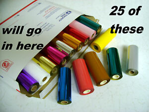 Hot Stamp Stamping Machine Foil Kingsley 25 Roll Pk 70 Colors Ships Free