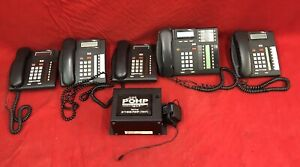 Nortel Norstar Compact Telephone System Ics cics Voice W 5 Phones Free Shipping