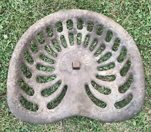 Vintage Champion Cast Iron Metal Tractor Seat Original Condition