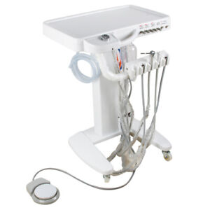 Usa 4 hole Dental Delivery Unit Mobile Cart Work With 30l Compressor Machine