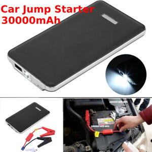 Portable Car Battery Jump Starter Booster 400a Peak Smart Jumper Cables Power W8