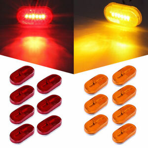 14 Amber red 4 clearance Led Trailer Truck Rv Led Side Fender Marker Light 12v