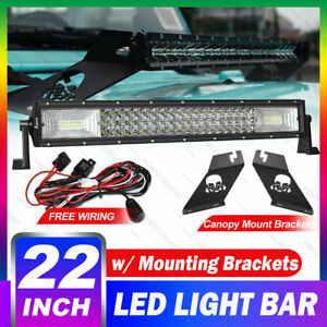 22 inch Cree Led Light Bar 280w Flood Spot Combo W Brackets Off road For Jeep