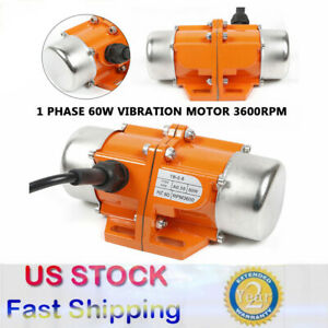60w Vibration Motor Ac110v Industrial Single Phase Asynchronous Vibrator 3600rpm