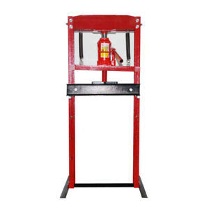 Hydraulic Shop Press Floor Press 12 Ton H Frame Free Shipping Auto Repair Tool