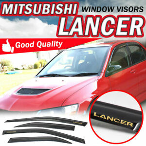 For 03 06 Mitsubishi Lancer Sedan Slim Smoke Window Visors Sun Rain Vents Shade