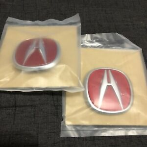 New Acura Integra Type R Oem Front Rear Red Emblems 97 98 00 96 99 94 01 Usdm