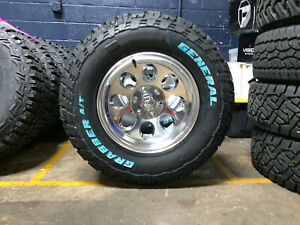 17x9 Ion 171 Polished 33 General At Wheels Rims Tires 5x5 5 Dodge Ram 1500