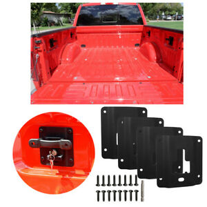 Bed Tie Down Cargo Cleat Box Link Brackets Set For 2015 2018 Ford F 150 F 250 Us