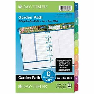 Day timer 2020 Daily Planner Refill 5 1 2 X 8 1 2 Desk Size 4 Loose Leaf T