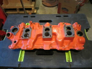 1958 1961 Chevy 348 3x2 Factory Gm Steel Intake Manifold 3749948