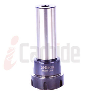 New 40mm Straight Shank Tool Holder Er40 4 Cylindrical Collet Chuck Usa Sell