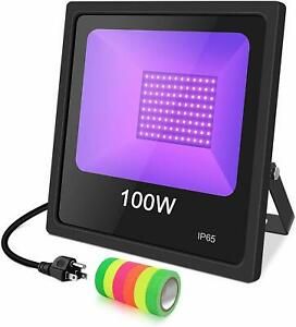 100w Uv Led Black Light High Power Ultraviolet Flood Light Waterproof For Party