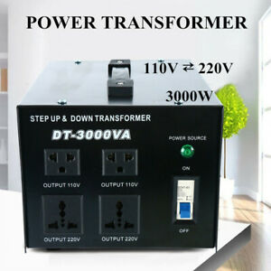 3000w Watt Voltage Transformer Step Up Down Voltage Converter 110v 220v Us Plug