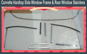 Corvette Hardtop Upper Window Stainless 1956 1957 1958 1959 1960 1961 1962