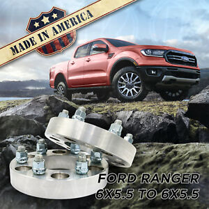 2pc 6x5 5 To 6x5 5 1 Wheel Spacers Adapters 93 1 Bore For 6 Lug Ford Ranger