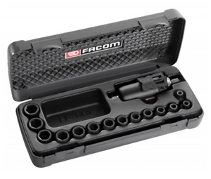 New Facom Nj 14fpb 3 8 Square Drive Compact Impact Wrench Socket Set Case