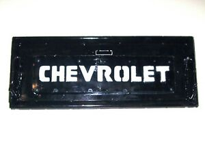 Vintage 1950 s Chevrolet Truck Metal Tailgate Replica Wall Mount Hand Built