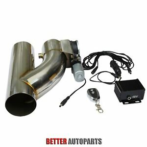 3 Electric Exhaust Downpipe Cutout E Cut Out Valve Controller Remote Kit