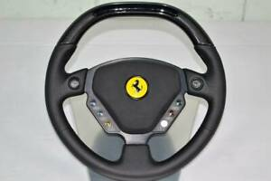Ferrari Enzo Steering Wheel Black Leather Carbon Oem
