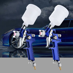 Mini Hvlp Air Spray Gun Paint Sprayer Gravity Feed Airbrush Car Painting Repair