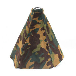 Jdm Universal Camo Suede Leather Manual Shift Lever Knob Boot Cover Shift Boot