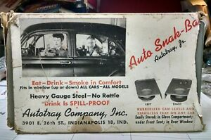 Vintage 40 s 50 s Window Drive In Car Hop Auto Trays Pontiac Ford Chevy Hot Rod