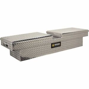 Crossover Truck Tool Box With Gull Wing Lid And Removable Tray Alum 69 x20 x13