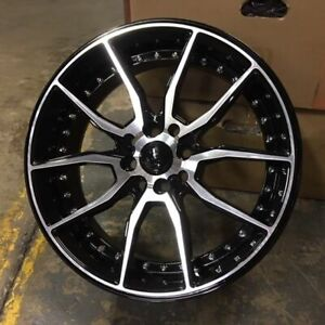 17 512 Style Wheels Rims Black Machine 4 Lug 4x100 114 3 4x4 5 Brand New Set 4