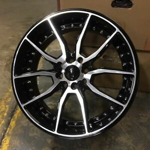 17 512 Style Wheels Rims Black Machine Fits Honda Del Sol Si Mini Clubman