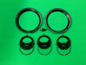1967 1968 Mercury Cougar Xr7 5 Pc Instrument Cluster Bezel Lens Set 67 68 Nice