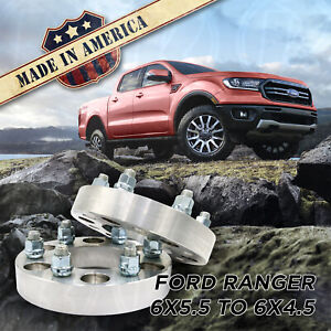 2pc 6x5 5 To 6x4 5 1 Wheel Spacers Adapters 93 1 Bore For 6 Lug Ford Ranger