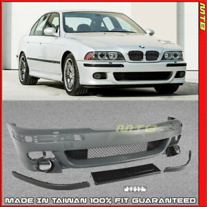 Front Bumper M5 Style W Washer Holes For 1997 2003 Bmw 5 Series E39 Body Kit