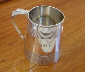 Antique George Iii Sterling Silver Mug London 1801 Stephen Adams I 224 Grams