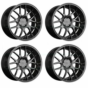 4 New 18 Xxr 530d Wheels 18x9 18x10 5 5x114 3 20 20 Chromium Black Staggered Ri
