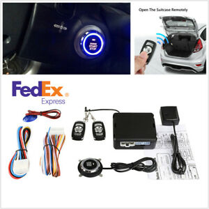 Car Vibration Alarm System Security Keyless Entry Push Button Remote Start Kit