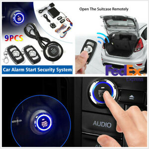 Us 12v Car Auto Alarm Security Keyless Entry Push Button Remote Engine Start Kit