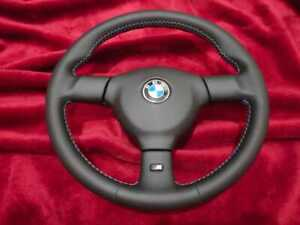 Bmw E30 Small Mtech2 Steering Wheel 370 With M Stitching Freshly Reupholstered