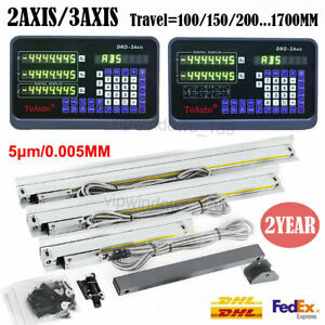 2axis 3axis Digital Readout Dro Display Linear Scale Encoder Fr Milling Lathe Us