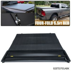 6 5ft Lock 4 fold Truck Tonneau Cover For 2002 2017 Dodge Ram 1500 2500 3500