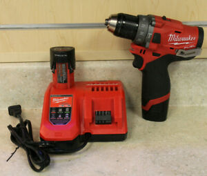 Milwaukee 2504 20 M12 Fuel 1 2 Cordless Hammer Dril W Battery charger