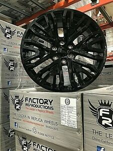 22 Nitto Tire Wheel Package 19 Chevy Silverado Tahoe Accessories Gloss Black