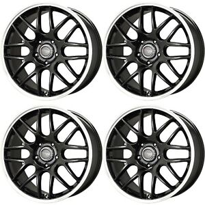Drag Wheels Dr 37 18x8 5x120 Black Bmw Rims E90 E92 E46 E36 M3 M1 Set For Sale