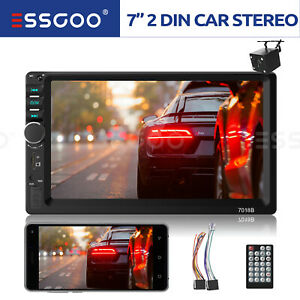 7 Touch Screen Car Stereo Mp5 Player Bluetooth Radio 2 Din Aux Reverse Camera