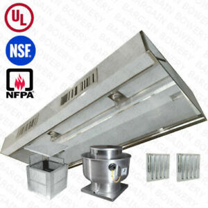 11 Ul 11 Ft Restaurant Commercial Kitchen Exhaust Hood With Make Up Air System